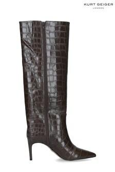 Kurt Geiger London Brown Bickley Knee High Boots