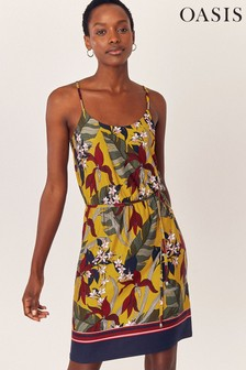 Oasis Yellow Bali Tropical Cami Dress