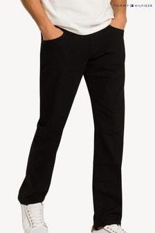 Čierne džínsy rovného strihu Tommy Hilfiger Denton