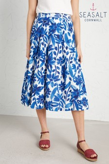 Seasalt Petite Blue Sea Mist Skirt