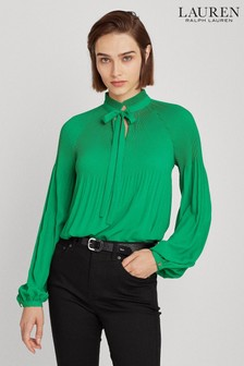 Lauren Ralph Lauren® Pleated Duong Tie Blouse