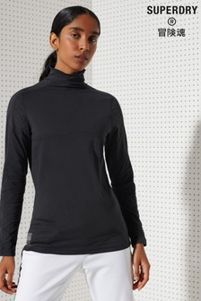 Superdry Sport Carbon Crew Neck Base Layer Top