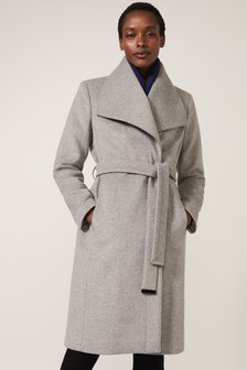 Phase Eight Grey Nicci Belted Wool Coat