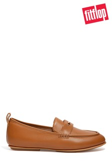 FitFlop Brown Lena Leather Penny Loafers