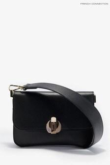 French Connection Black Margot Trio Shoulder Bag