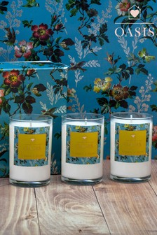 Set of 3 Oasis Fressia And Musk Candles