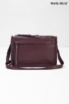 White Stuff Purple Marsha Leather Crossbody Bag