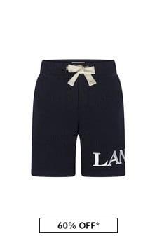 Lanvin Boys Navy Cotton Shorts