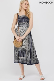 Monsoon Navy Adriana Jersey Dress