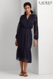Lauren Ralph Lauren® Navy Boho Jaira Maxi Dress