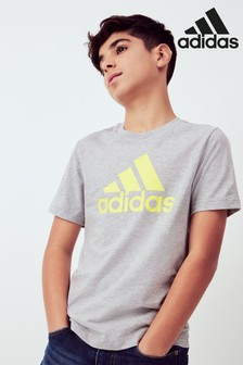 adidas Grey/Yellow Must Have T-Shirt