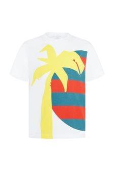 Stella McCartney Kids Boys White Cotton T-Shirt