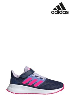 adidas Run Navy/Pink Falcon Junior Trainers