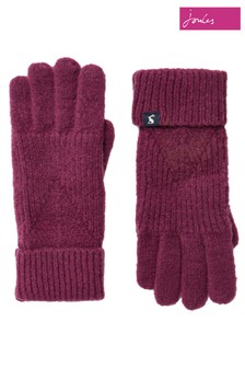 Joules Purple Thurley Knitted Gloves