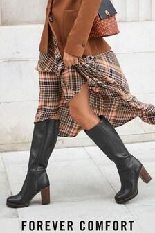 Forever Comfort® Platform Knee High Boots