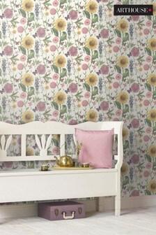 Arthouse Summer Garden Floral Wallpaper