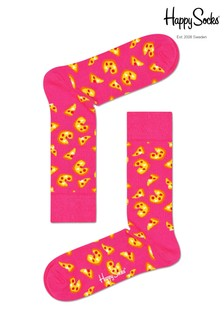 Happy Socks Socken mit Pizza-Print, Schwarz