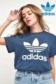 adidas Originals Boyfriend-T-Shirt, Marineblau