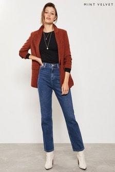 Mint Velvet Melrose Dark Indigo Straight Jeans