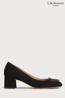 L.K.Bennett Black Nimah Court Shoe