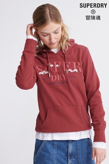 Superdry Serif Floral Embroidered Hoody