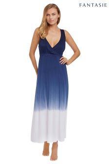 Fantasie Aurora Navy White Ombre Beach Dress