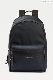 Tommy Hilfiger Blue Elevated Nylon Backpack