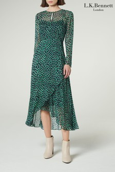 L.K.Bennett Green Beya Dress