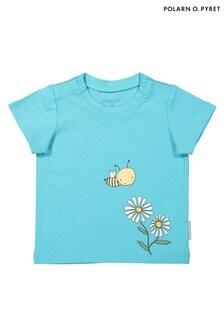 Polarn O. Pyret Blue GOTS Organic Baby Print T-Shirt