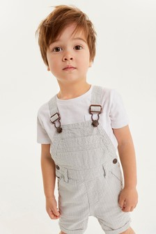 Ticking Stripe Dungarees (3mths-7yrs)