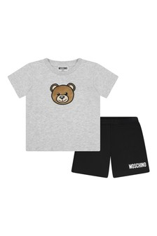 Moschino Kids Baby Boys Grey Cotton Outfit