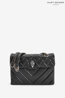 Kurt Geiger London Black Leather Kensington Bag