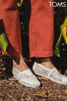 TOMS Natural Moroccan Crochet Alpargata 3.0 Shoes