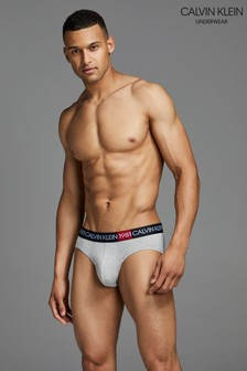 Calvin Klein Grey 1981 Bold Cotton Hip Briefs