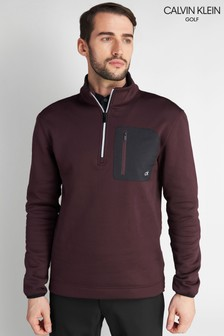 Calvin Klein Golf Purple Pinnacle Half Zip Top