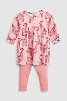 Платье и леггинсы (0 мес. - 2 лет)