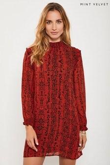 Mint Velvet Animal Kiera Leopard Print Mini Dress