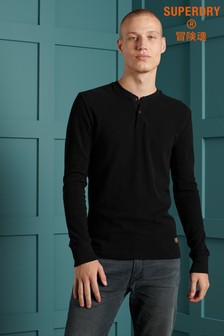 Superdry Micro Texture Henley Top