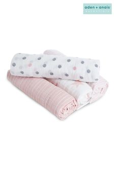 aden + anais Essentials Pink Muslin Swaddle Blanket 4 Pack