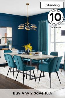 Alma 6 to 10 Seater Double Extending Dining Table