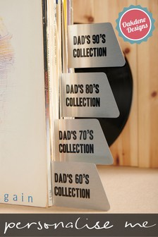 Personalised Record Dividers by Oakdene Designs