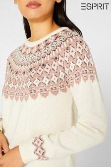 Esprit Natural Jacquard Pattern Sweater