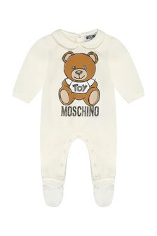 Ivory Cotton Teddy Babygrow