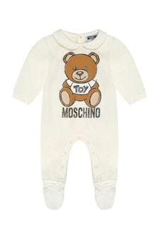 Ivory Cotton Teddy Babygrow