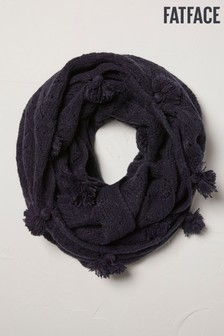 FatFace Blue Pointelle Knitted Snood