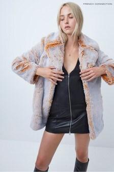 French Connection Danitanna Faux Fur Coat