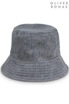Oliver Bonas Cord Grey Bucket Hat