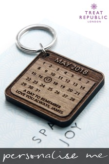 Personalised Square Keyring by Treat Republic