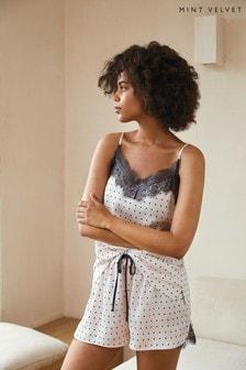 Mint Velvet Nude Spot Print Pyjama Set