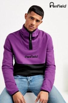 Penfield Purple Chipman Colourblock Sweater